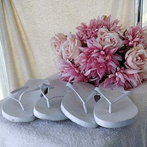 2 Pairs of White Old Navy Flip Flops *add on item
